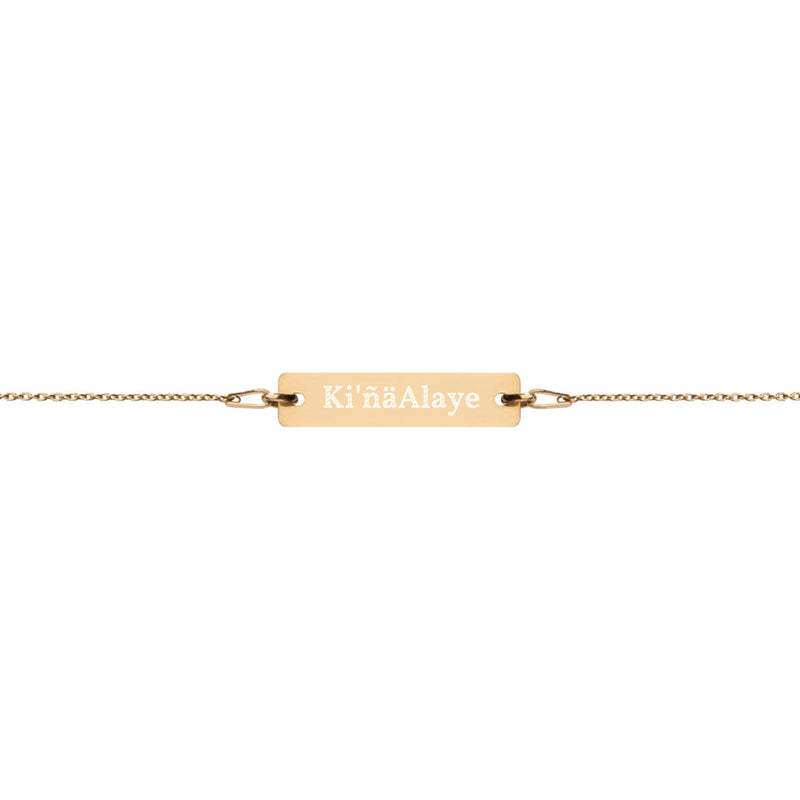 Engraved Gold-Plated Bracelet with Hermana Name