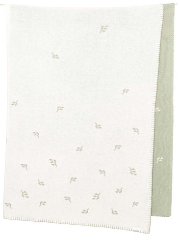 Toshi Organic Blanket - Sage Green Leaves