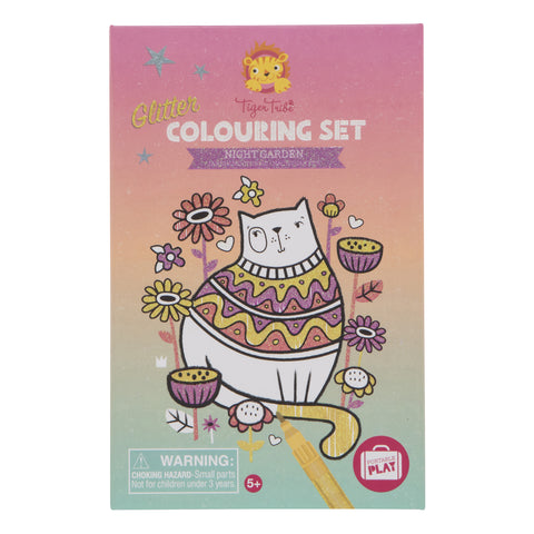TigerTribe Colouring Set Glitter Night Garden