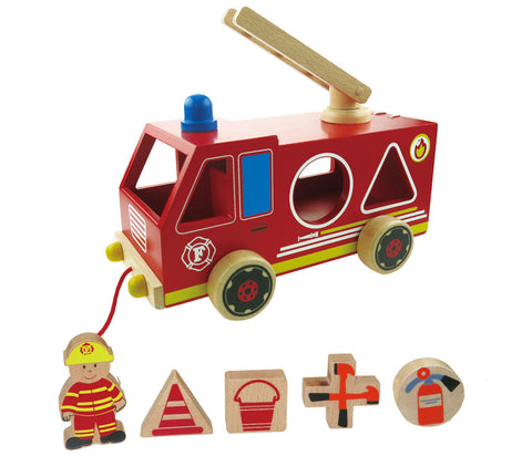 Fire Engine Wooden Shape Sorter