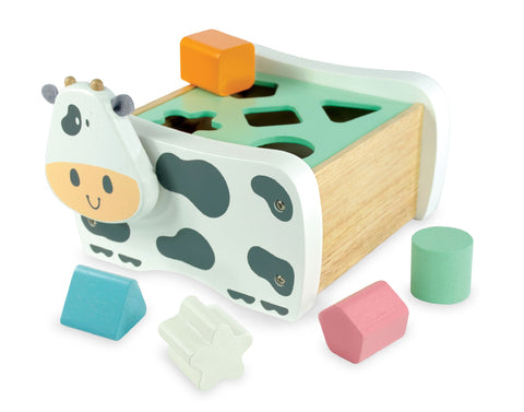 Im Toy Wooden Cow Shape Sorter