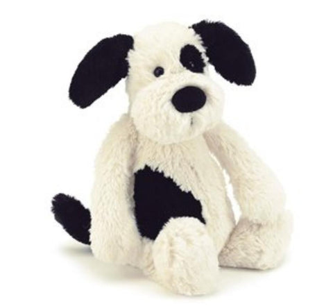 Jellycat Small Puppy - Black and Cream