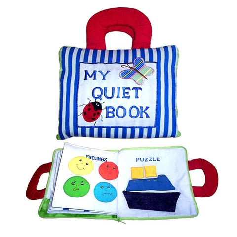 Quiet Book - Blue Stripes