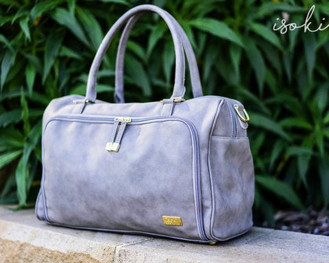 Isoki Double Zip Satchel - Grey