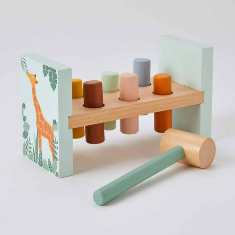 Wooden Hammer Bench - Animals