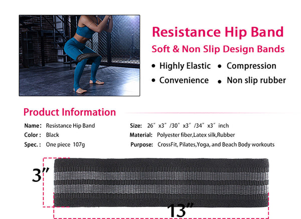 Hip Resistance Bands for Women Booty Building, Body Shape
