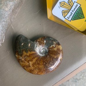 Crystal Geode Copper Ring