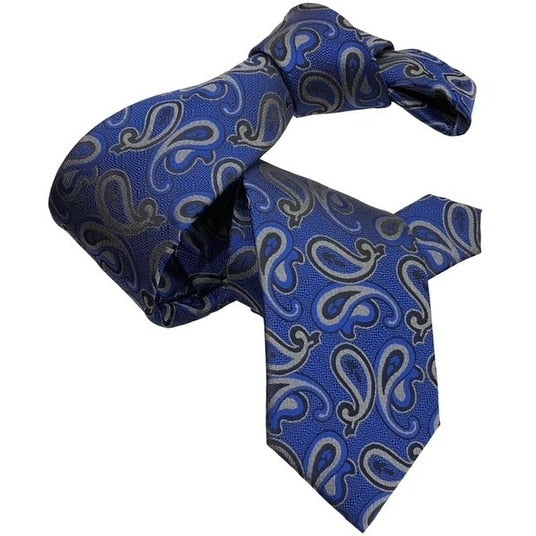 DMITRY Blue Silk Paisley Italian Men's Tie