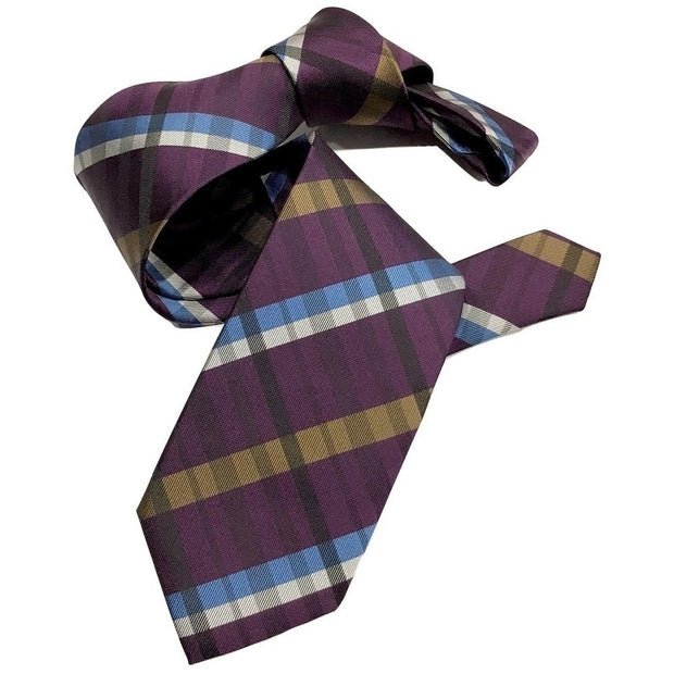 DMITRY Purple Patterned Italian Silk Tie - Dmitry Ties