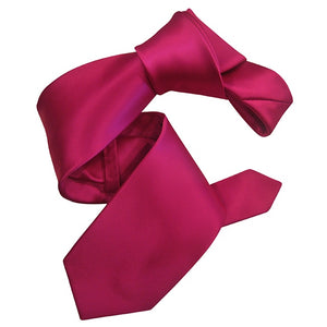 Dmitry Men's Fuchsia Pink Solid Italian Silk Tie - Dmitry Ties