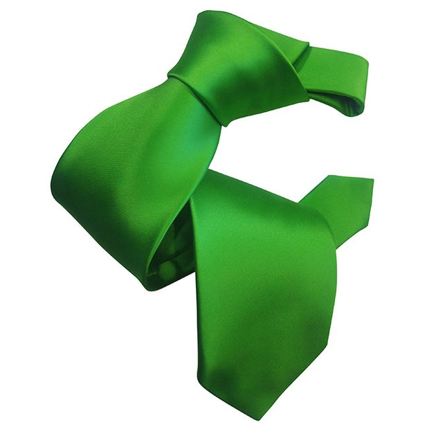 Dmitry Men's Kelly Green Solid Italian Silk Tie - Dmitry Ties