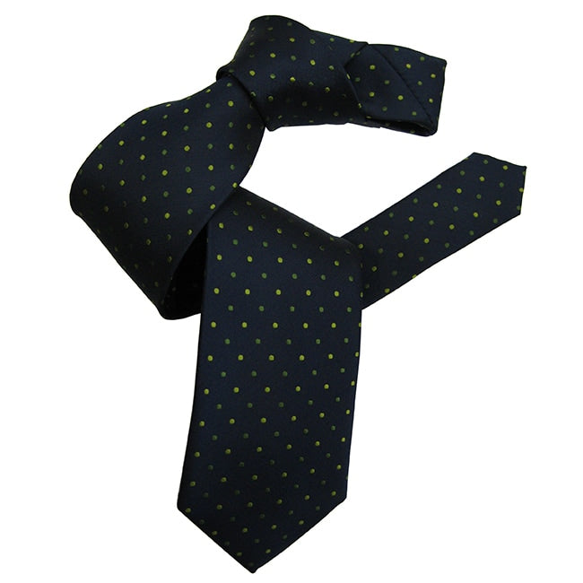 Dmitry Men's Navy Polka Dot Italian Silk Tie - Dmitry Ties