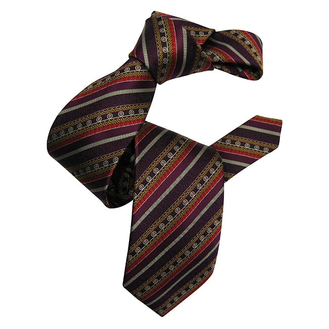 Dmitry Men's Purple Patterned Italian Silk Tie - Dmitry Ties