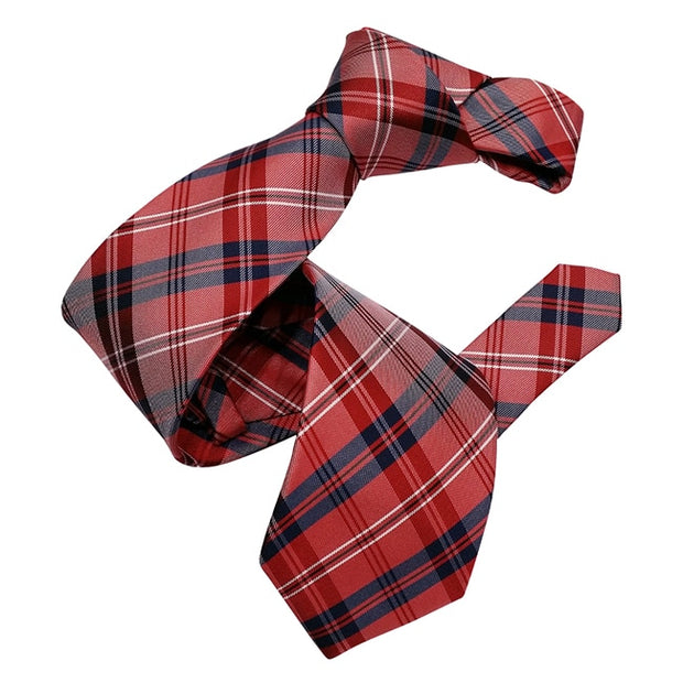 Dmitry Men's Red Italian Silk Patterned Tie - Dmitry Ties