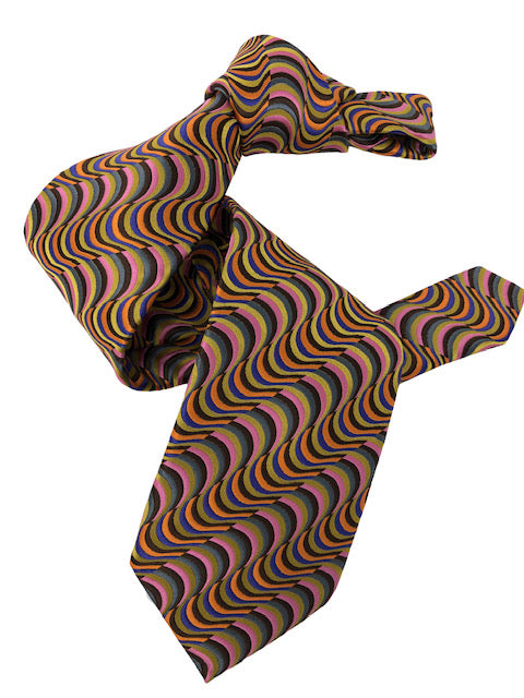 DMITRY 7-Fold Multi-Color Patterned Italian Silk Tie