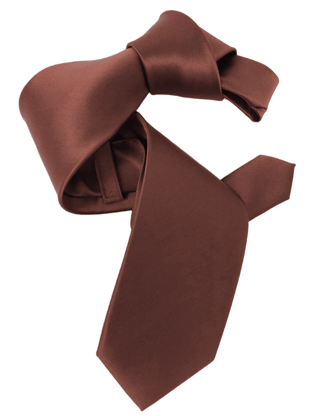 Dmitry Men's Copper Solid Italian Silk Tie