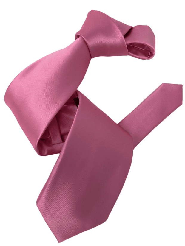 Dmitry Men's Pink  Solid Italian Silk Tie