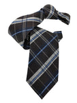 DMITRY Brown Patterned Italian Silk Tie - Dmitry Ties