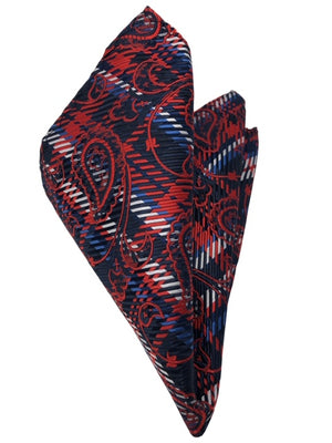 DMITRY 7-Fold Red Paisley Italian Silk Tie - Dmitry Ties