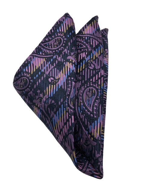 DMITRY 7-Fold Purple Paisley Italian Silk Tie - Dmitry Ties