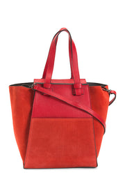 Women's Made in Italy Leather Wing Tote Bag