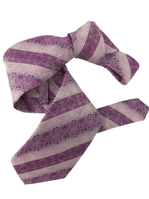 DMITRY 7-Fold Purple Patterned Italian Silk Tie