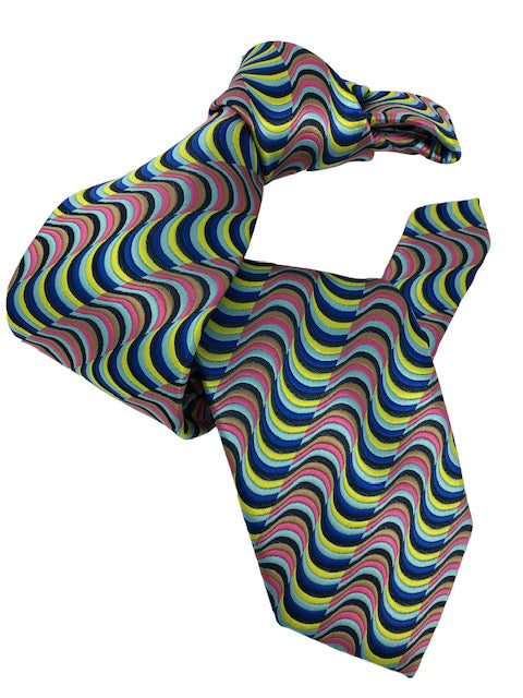 DMITRY 7-Fold Multi Colored Patterned Italian Silk Tie