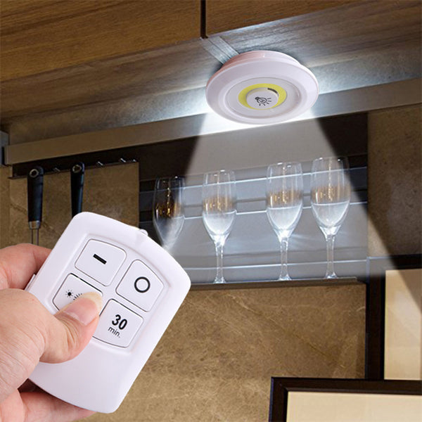 3pcs Wireless Led Remote Control Battery Under Cabinet Night Light