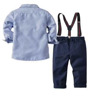 Striped shirt & Suspenders Pant | Toddler & Kids Cloth | The Essential