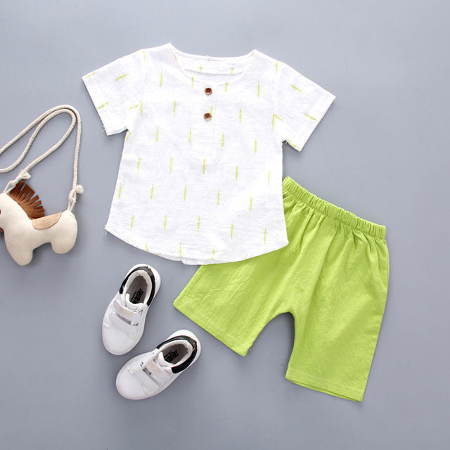 Summer Set Leaves Print for Boy | The Essential