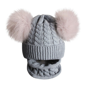 Knitted Beanie Hat with Scarf | Baby & Kids Accessories | THE ESSENTIAL |
