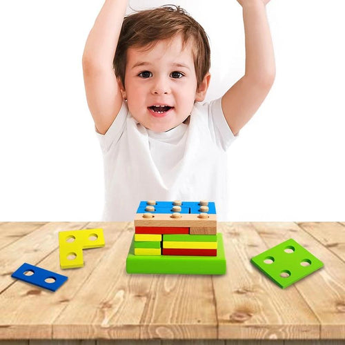 Tetris Wooden Blocks | Wooden | THE ESSENTIAL |