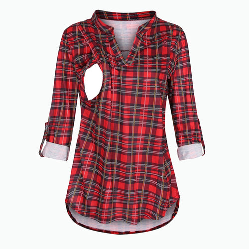 Maternity Blouses Plaid Print | For Mommy | THE ESSENTIAL |
