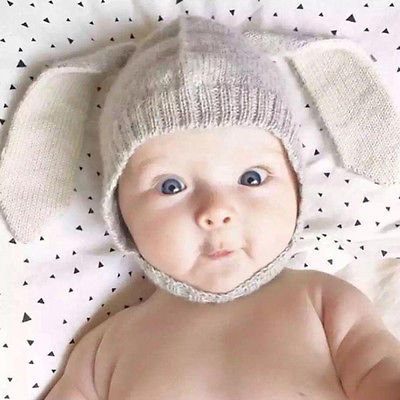 Cute Knitted Bunny Hat | Baby Accessories | THE ESSENTIAL |