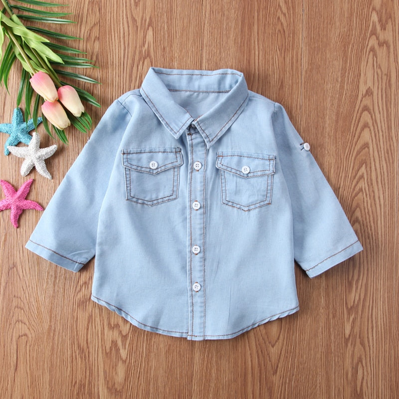 Denim Roll-Sleeve Shirt for Toddler | THE ESSENTIAL