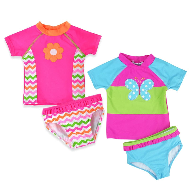 Colorful Swimsuit 2 pieces | baby girl Cloth | THE ESSENTIAL