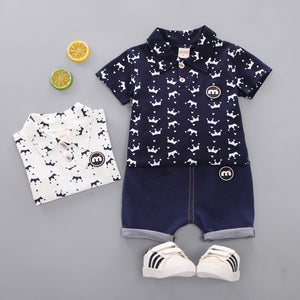 Crown Print Set for boy | Toddler Clothing | The Essential