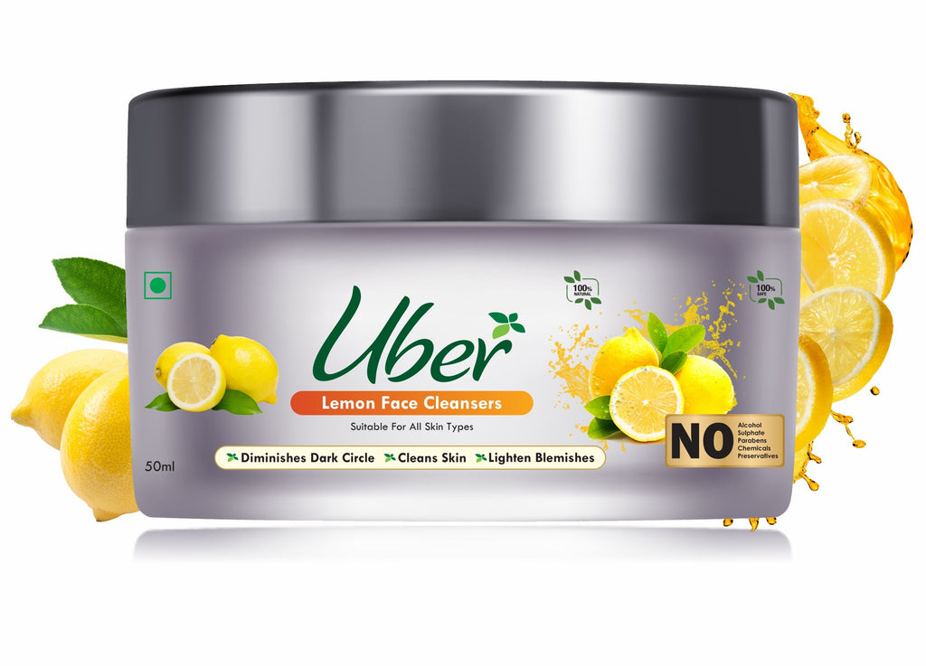 Uber Lemon Face Cleanser with Natural Honey + Plain Yogurt For Your Glowing Skin (50ml)