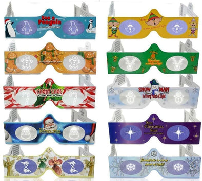 3D Christmas Glasses Holiday Eyes® - 10 Different Exclusive Styles - FOLDED