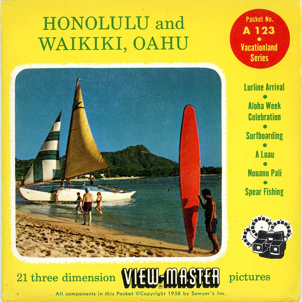 View-Master - Scenic Alaska-Hawaii - Honolulu and Waikiki