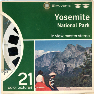Yosemite National Park, California - Vintage Classic View-Master® - 3 Reel Packet - 1950s Views
