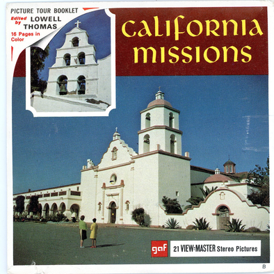 California Missions - Vintage Classic View-Master® - 3 Reel Packet - 1960s Views