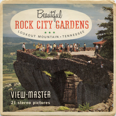 ViewMaster Beautiful Rock City Gardens - Lookout Mountain - A884 - Vintage - 3 Reel Packet - 1960s views