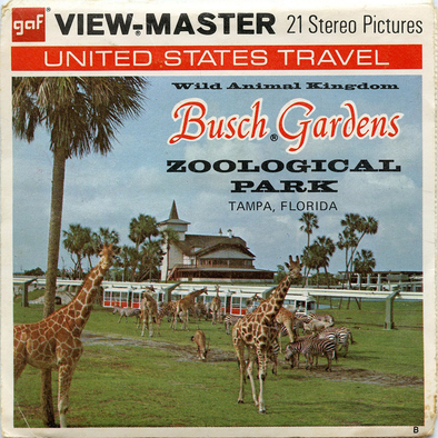 Busch Gardens Zoological Park - Tampa, Florida - Vintage Classic View-Master® - 3 Reel Packet - 1960s Views