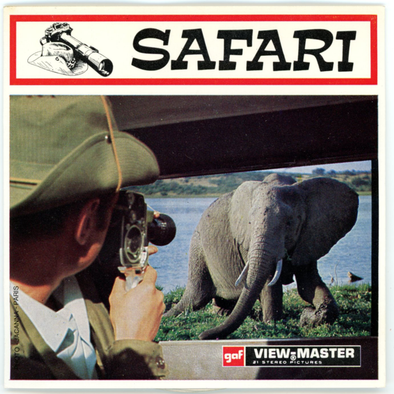 Safari - D127E - Vintage Classic View-Master - 3 Reel Packet - 1970s - Views