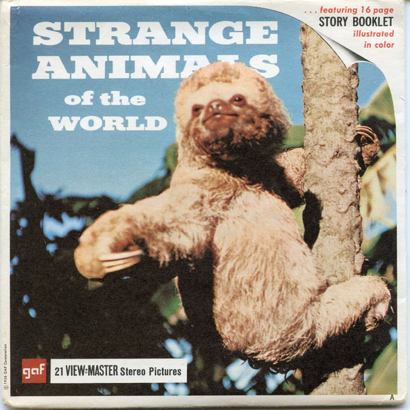 Strange Animals of the World-B615-G1A-Vintage Classic View-Master-1960's Views