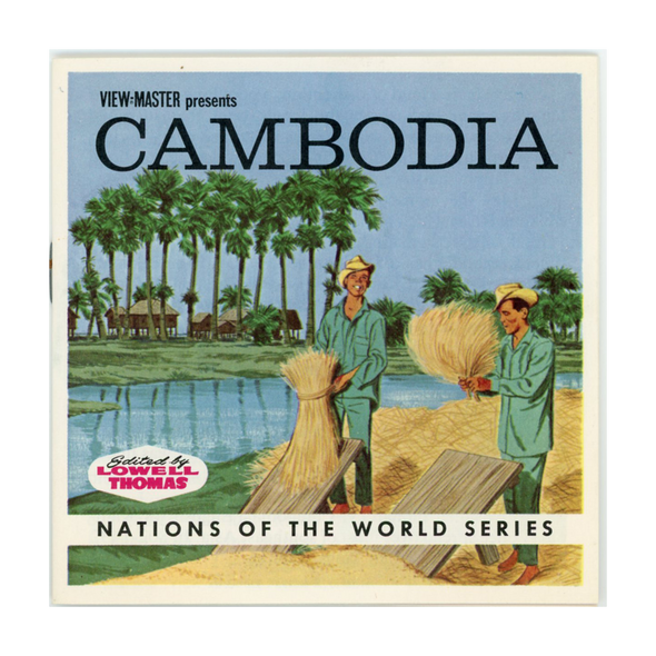 View-Master - Cambodia - B249-G1A - Vintage 3 Reel Packet - 1960s views
