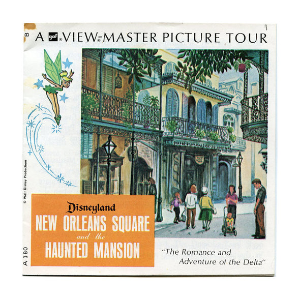 View Master - New Orleans Square and the Hunted Mansion- Disneyland - Vintage - 3 Reel Packet - 1960s views - A180