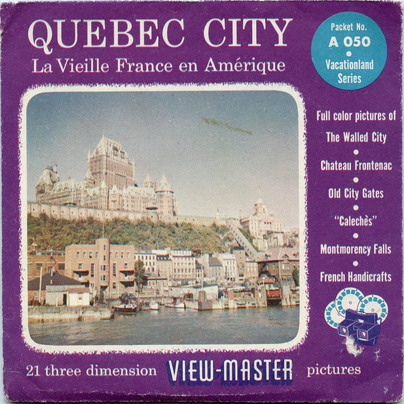Quebec City - Canada - A050 - Vintage Classic View-Master 3 Reel Packet - 1960s