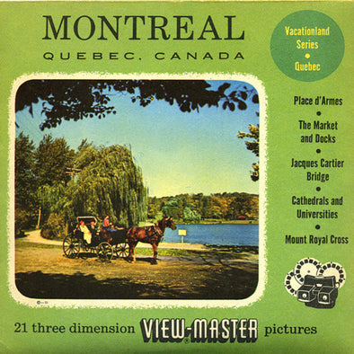 Montreal, Quebec - Canada - Vacationland Series - Vintage Classic View-Master - 3 Reel Packet - 1950s